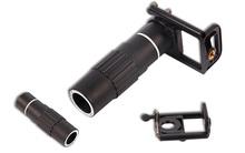20 unids/lote 12x Zoom lente del telescopio óptico + soporte universal para la cámara del teléfono celular móvil OS604