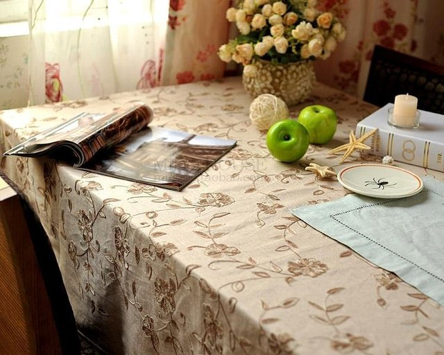 Free Shipping JF2915 Cotton wool double color knitting wool embroidered  tablecloth
