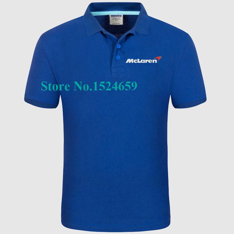 Women and men's summer McLaren polo shirt short sleeve POLO shirts high quality Customized shirt(China (Mainland))