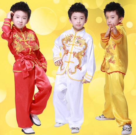 chinese kungfu Wushu suit costume Uniforms martial arts clothing new children's Tai Chi kung fu buddhist monk robes Halloween(China (Mainland))