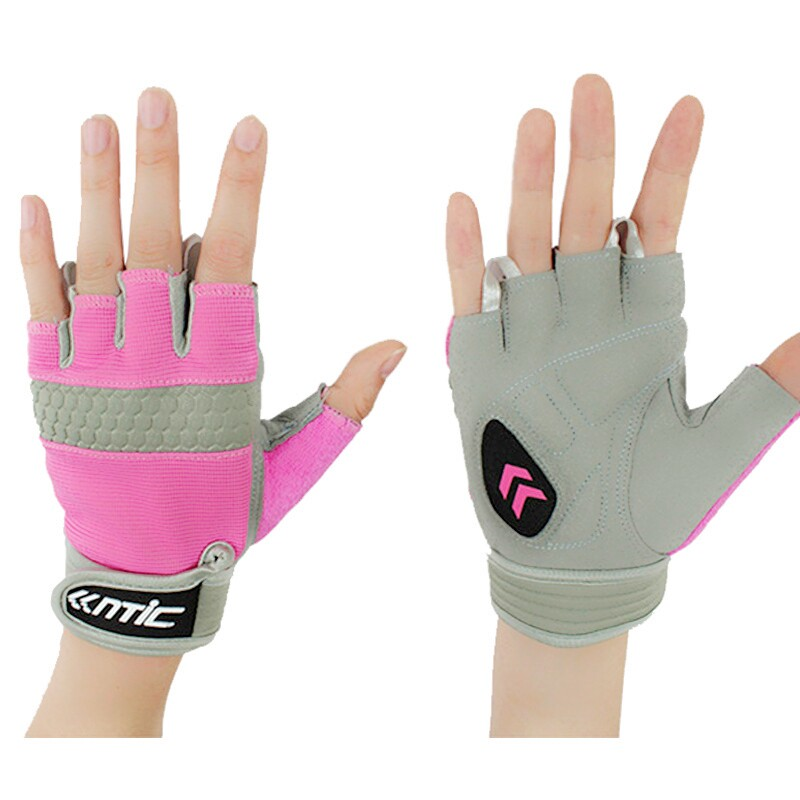 SANTIC Bicycle Gloves Running Cycling Half Finger ciclismo MTB Motorcycle Riding Exercise Bike Fitness fingerless Glove - Lanting Outdoor Products Co.,Ltd. store