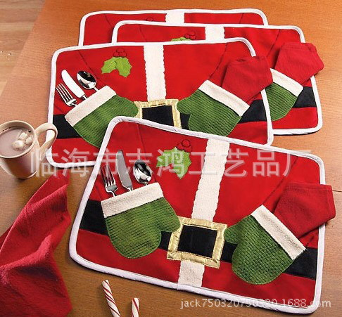 Hot sale christmas decoration red christmas table mats for Christmas decorations sale online