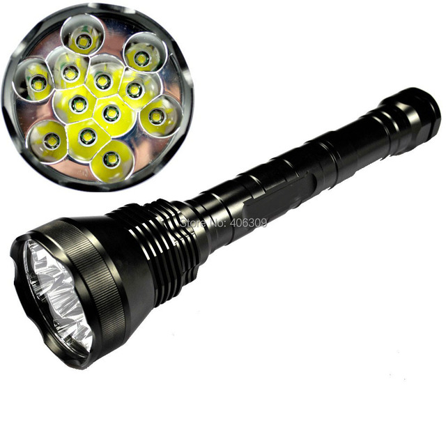 Super Powerful Lightmalls 12T6 13800-Lumen 12xCree XM-L T6 5-Mode Memory LED Flashlight Torch(3x26650/3x18650) + free shipping