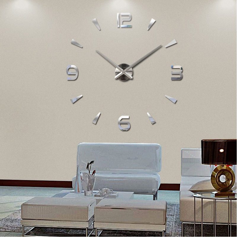 2015 special large diy quartz 3d wall clock living room for Decoration murale 1 wall