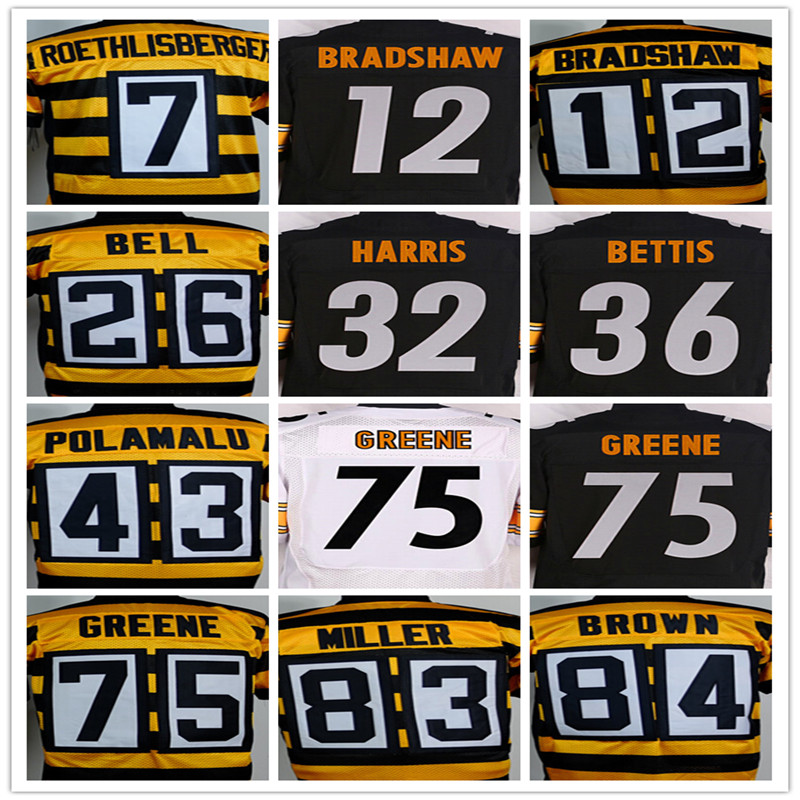 7 Ben Roethlisberger 12 Terry Bradshaw 26 Le'veon Bell 36 Jerome Bettis 43 Troy Polamalu 50 Ryan Shazier 84 Antonio kahverengi(China (Mainland))