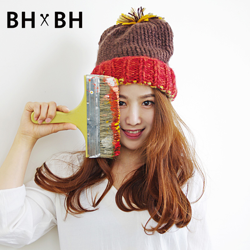 2016 New style female casual skullies women beanies multi colors winter knitted elegant chapeau with a ball cap BH-2270(China (Mainland))