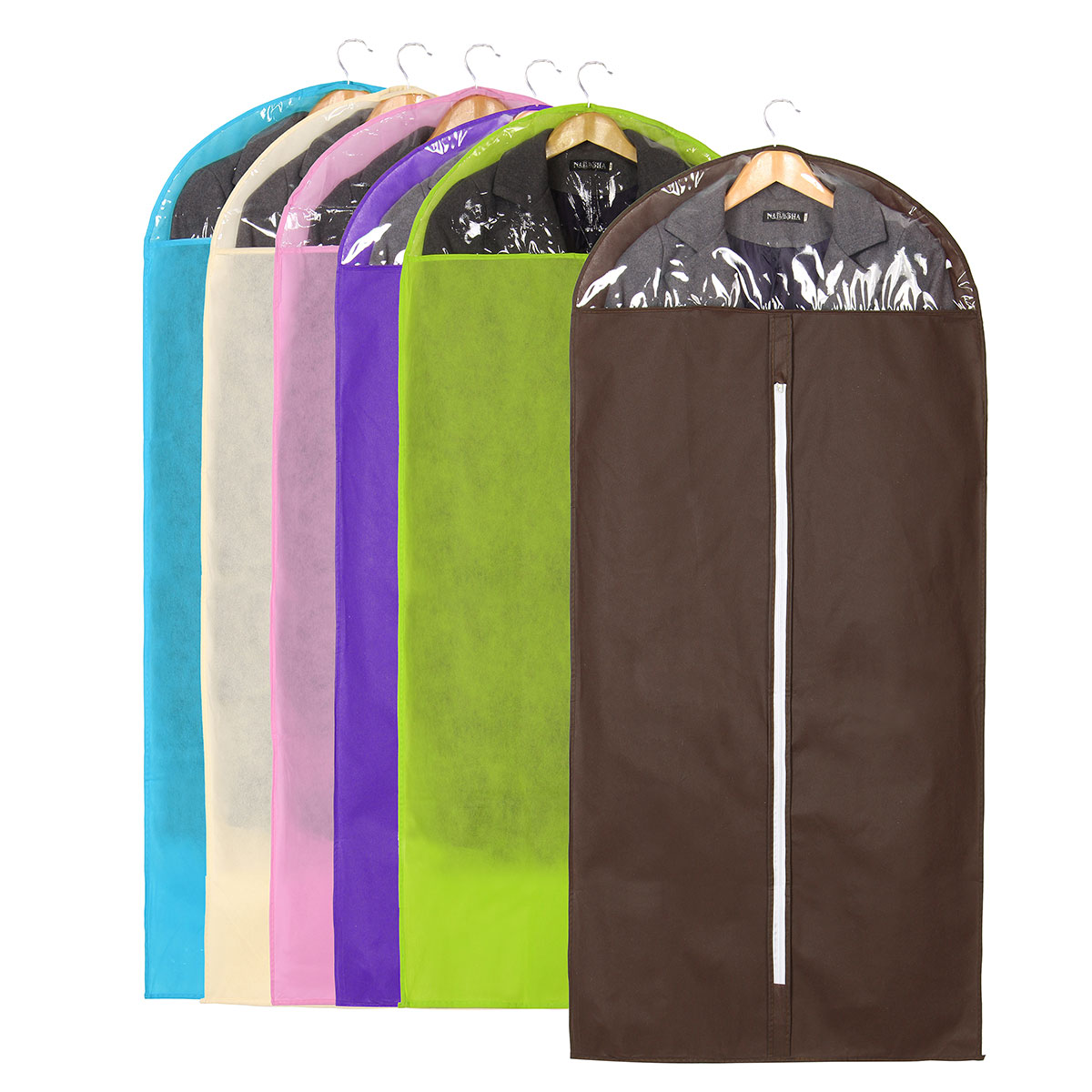 Non Woven Fabric Garment Storage Bag Dress Jacket Clothes Coat Suit Dustproof Cover Protector Travel Bag Household Storing Tools(China (Mainland))