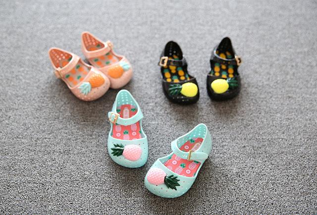 2016 девушки мини мелиссы обувь дети мини мелиссы сандалии детская обувь дети пвх пластиката мягкая подошва желе сандалии 5.5 - 6.5 дюймов