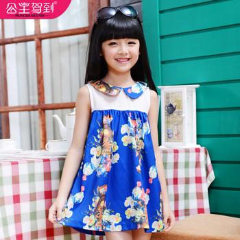 Princess children's clothing 2013 summer female child one-piece dress one-piece dress child