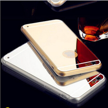 High Quality Fashion Deluxe Electroplating Mirror TPU Clear Soft Back Phone Case Cover for iPhone 5 5S 6 6 Plus Case Cover(China (Mainland))