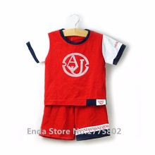 2016 Brand New Arrivals Boys Summer Clothing Catoon Cotton Short-sleeved Polo T-shirt Shorts Two-piece Sets High Quality(China (Mainland))