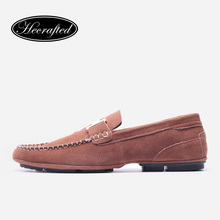36~48 Genuine cow leather men loafers Handmade Big size moccasins soft leather men flats #HXP1006(China (Mainland))