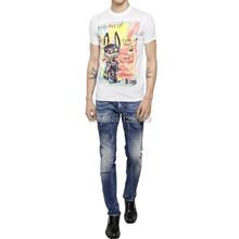 Direct Selling Mid Stripe Full Length 2015 New Men Skinny Jeans Slim Fit Mens Designer Brand Paint Wash Straight Denim