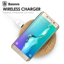 Baseus Wood Qi Wireless Charger for Samsung Galaxy S7 Edge Wireless Changing Pad Receiver for iPhone 6 6S Plus(China (Mainland))