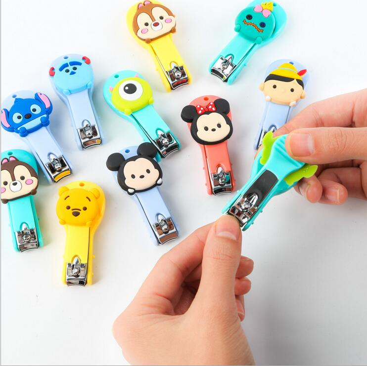 Tsum Mickey Minnie Donald Duck Aberdeen Cartoon cute stainless steel nail scissors baby kids nail clippers(China (Mainland))