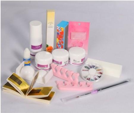 Pro Acrylic Powder Liquid Primer Decoration Kits DIY Nail Tools Art Set Kit Brush Sanding File 3D Model 1# - WOVJ Beauty Shop store