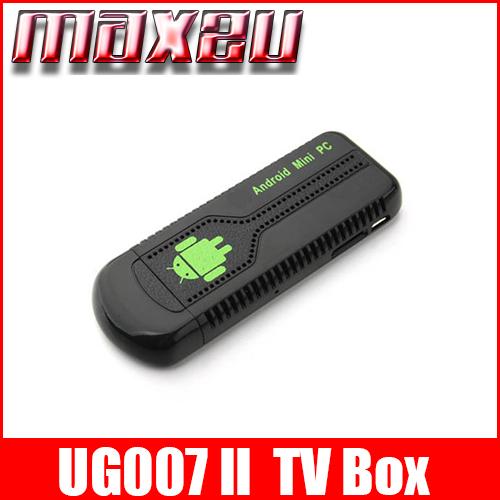 UG007 II Mini Android TV Box TV Dongle Andriod PC Anroid 4.1 RK3066 Dual Core 1G 8G Bluetooth TF(China (Mainland))