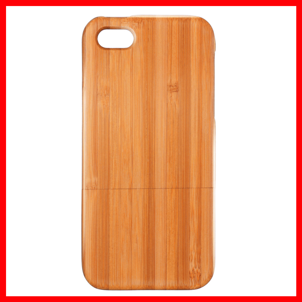 Natural Handmade Hard Wood Bamboo Case Back Cover for iphone 5 5s High Quality Phone Case(China (Mainland))
