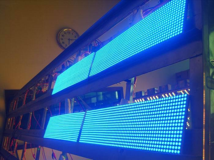 High Bright 1 Square Meter Outdoor P10 LED Panel Blue Color 320*160mm Advertising LED Sign for Shop Bank Cafes etc(China (Mainland))