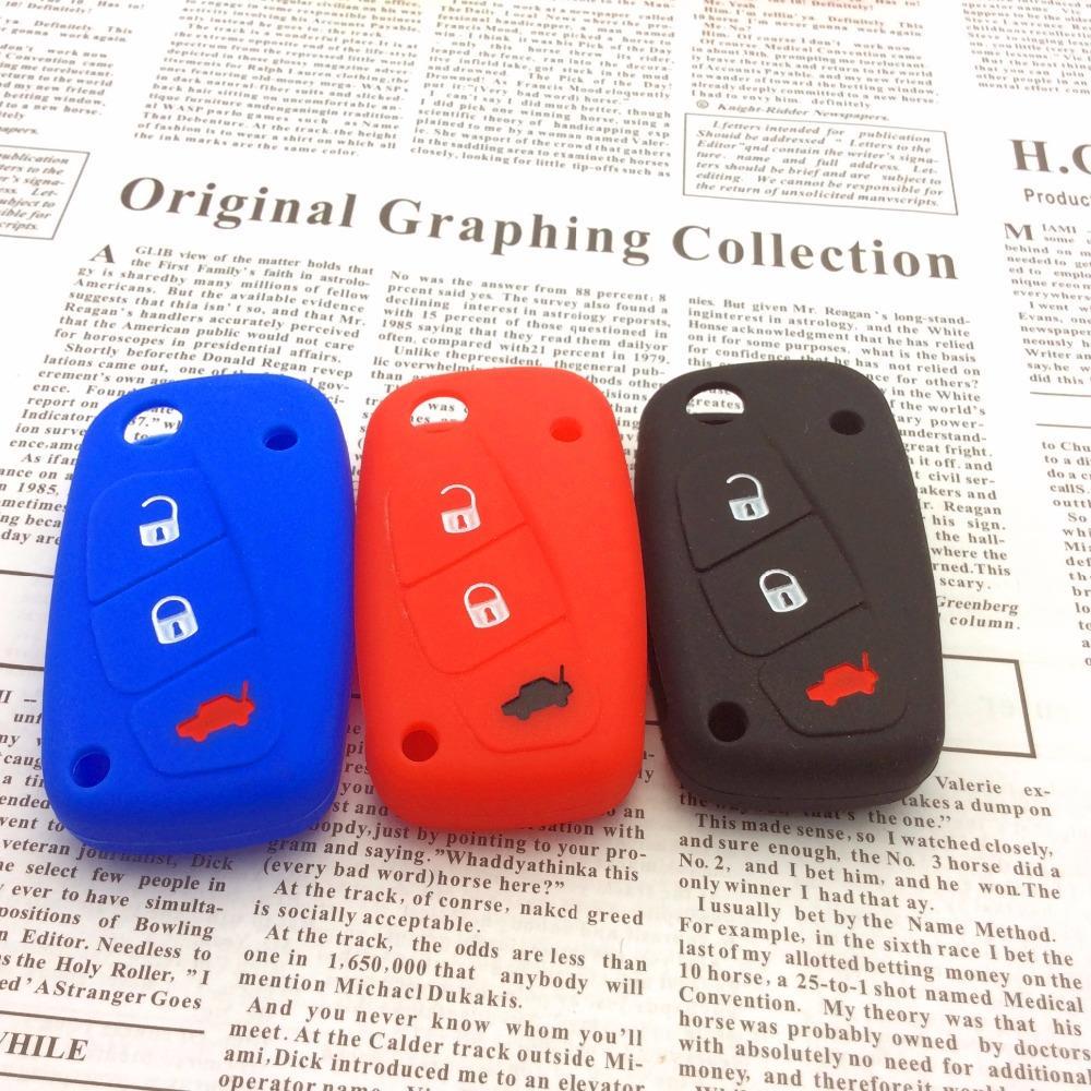 car styling for FIAT /Panda /Stilo /Punto /Doblo /Grande /Bravo 500 Ducato /Minibus 3 buttons Silicone car key case cover(China (Mainland))
