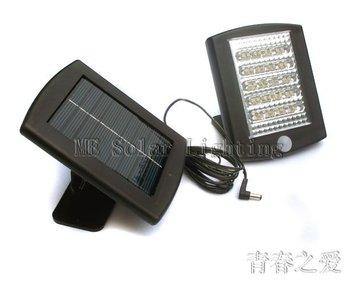 Solar Motion Sensor light Wall Mount Garden Light+Solar powered+36 LED Solar security light Free shipping