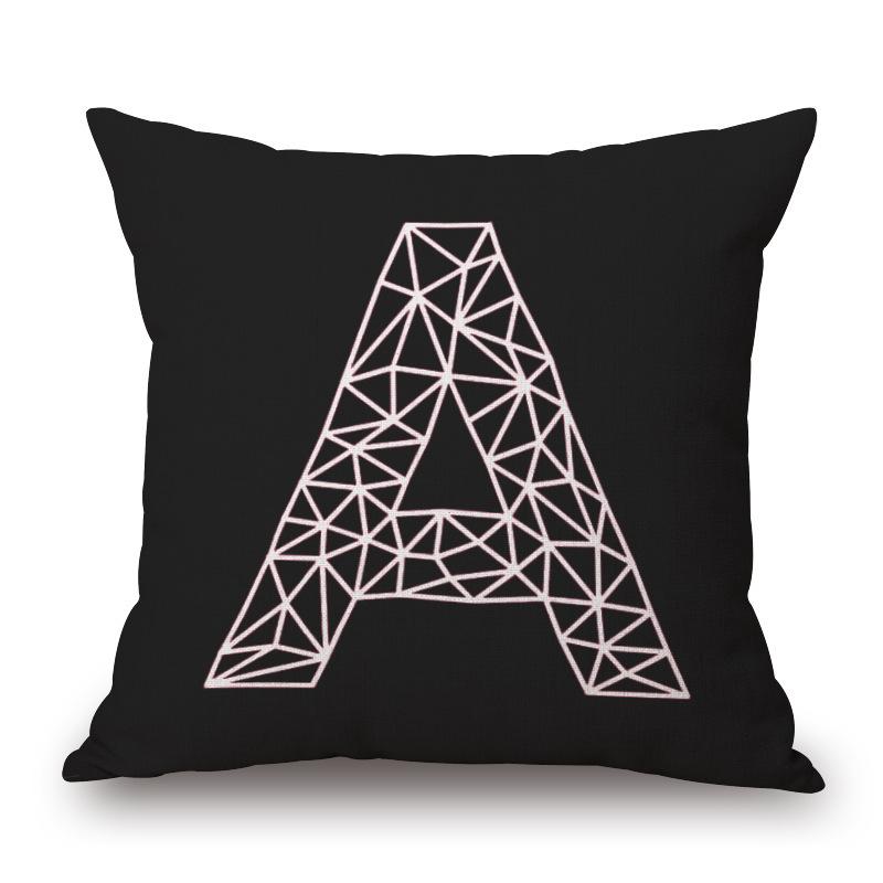 18″ Square Black White Plain Cotton Linen Cushion Cover Ikea Sofa Decorative Throw Pillow Home Chair Car Pillow Case almofadas