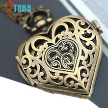 OTOKY Hollow Heart Shape Vintage Quartz Pocket Watch Necklace Pendant Womens #20 Gift 1pcs(China (Mainland))