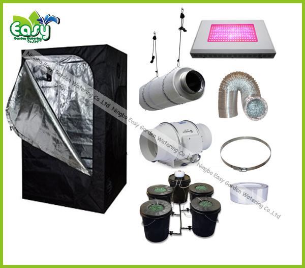 Hydropoinics complete indoor grow tent kits 150x150x200cm for Indoor gardening ventilation system