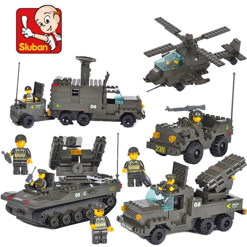 Building Block Sets Compatible lego military anti-aircraft artillery troops 3D Construction Brick Educational Hobbies Toys