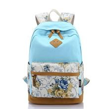 2015 high quality new fashion women double shoulder bag Korean casual backpack bag of high quality canvas printing bags(China (Mainland))