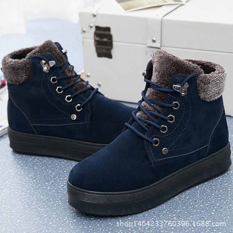 Snow boots winter boots 2016 fashion plus velvet women warm boots(China (Mainland))