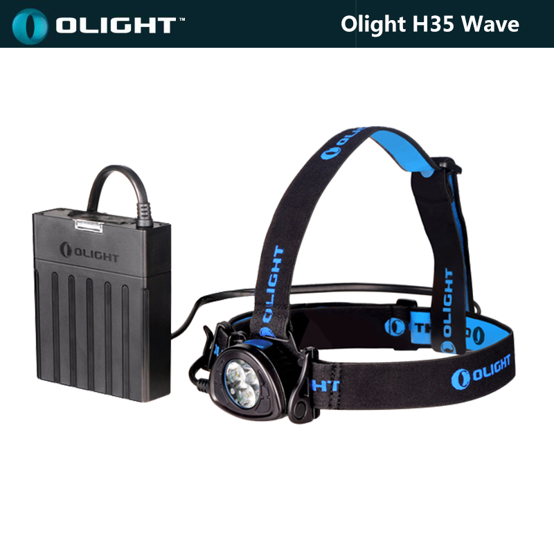 1 Set Olight H35S Wave 1500 Lumens Rechargeable LED Headlamp 3*Cree XM-L2 LEDs + 5200mAh 7.4V Battery Pack+AC Charger+Power Cord(China (Mainland))