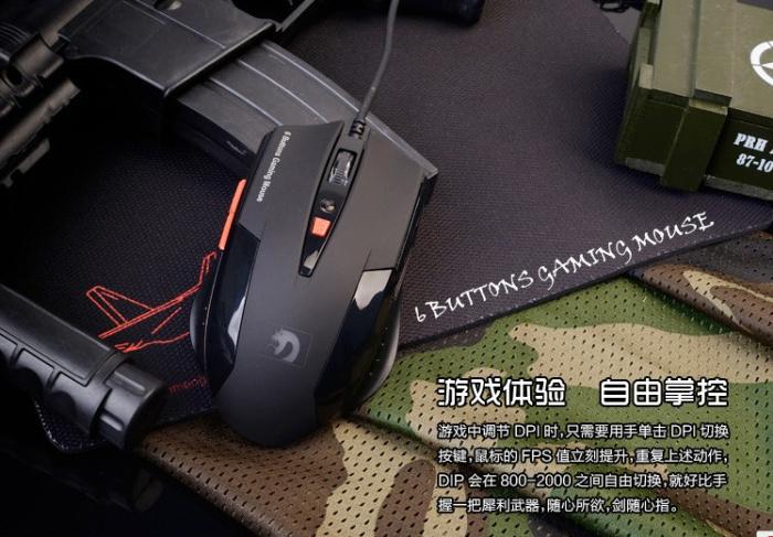 XM-398 Mamba 6 Buttons Gaming mouse,800-1600-2000DPI,NEW(China (Mainland))
