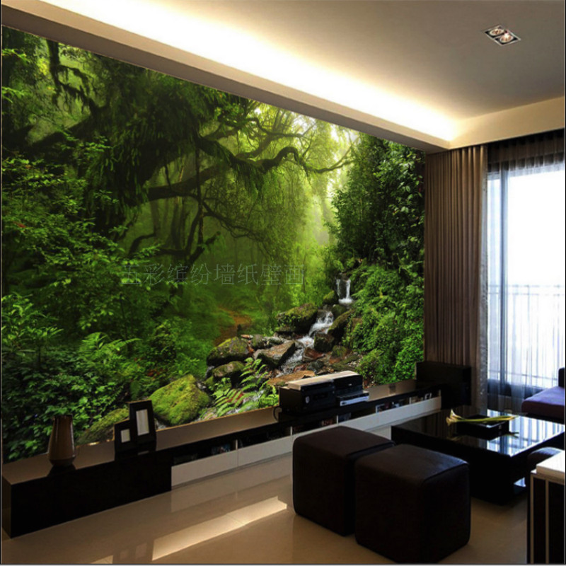 photo 3D wallpaper Custom natural sunlight green eye forest landscape wall paper for wall 3D bedroom for living room background(China (Mainland))