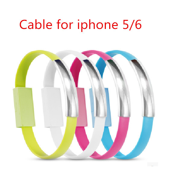 Micro USB bracelet shape Charger Cable For iPhone 5 5g 5S 5C for iPad Mini iPod Touch 5 Nano 7 ios 7 XC1051 data sync(China (Mainland))