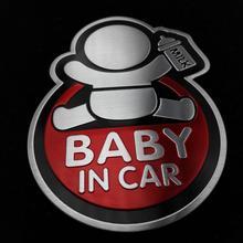 baby car aluminum sticker audi Chevrolet cruze Volkswagen VW skoda toyota RAV4 MAZDA FORD focus 2 3 - NO 1 CAR SHOP store