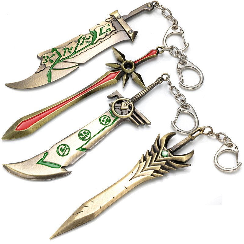 2016 Online Game League of Legend LOL keychain Good Quality Zinc Alloy Action Figure Keychain Pendant Fashion Accessories Toys(China (Mainland))