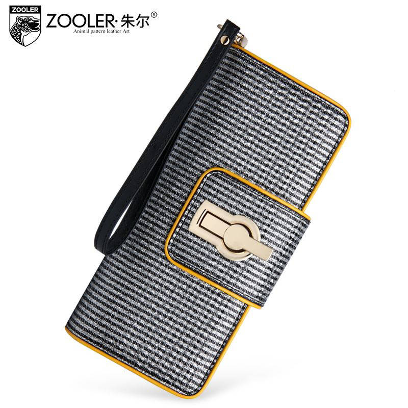 ZOOLER Brand 2015 High Quality Genuine Leather Bag Fashion Striped Holding Wallets Temperament Banquet Clutch Women Wallet<br><br>Aliexpress