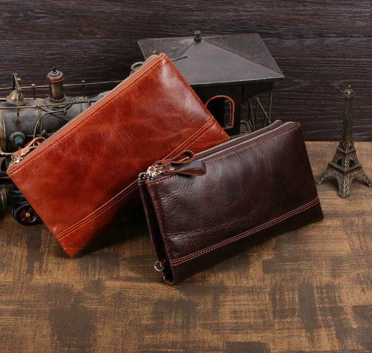 Maxwell New Style High Quality Brand Fashion 100% Genuine Leather Men Clutches Wallets Purses Handbags #MW-J8027(China (Mainland))