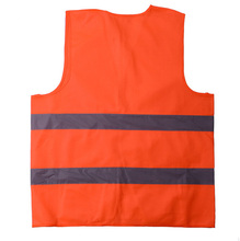 Polyester Material Reflective Safety Vest Working Clothes Provides High Visibility Day & Night For Running Cycling Walking Etc(China (Mainland))