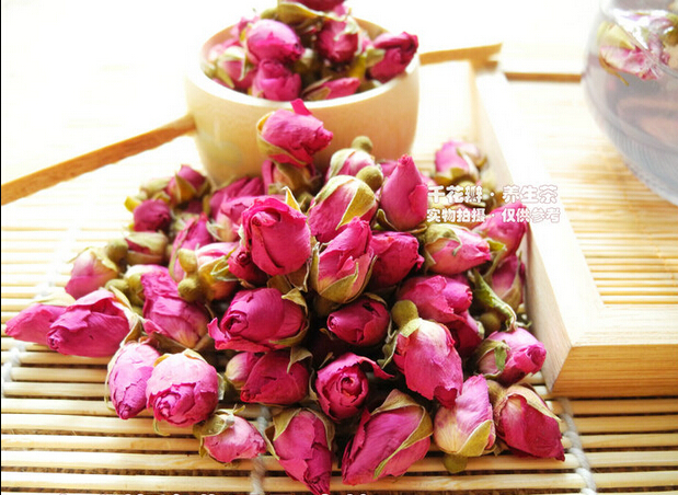 100g Organic Rose Tea 100 Pure Natural Dried Rose Bud Blooming Flower Tea Good For Healthy