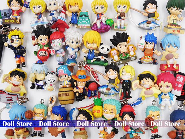 2set/lot Random send original pvc 2.5-3cm Japanese anime figure Naruto/Hunter X Hunter/one piece action figure Christmas gift(China (Mainland))