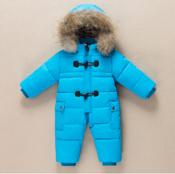 Newborn baby down winter baby rompers girls snowsuit baby clothes children's fashion baby romper jumpsuit rompers boys overalls(China (Mainland))