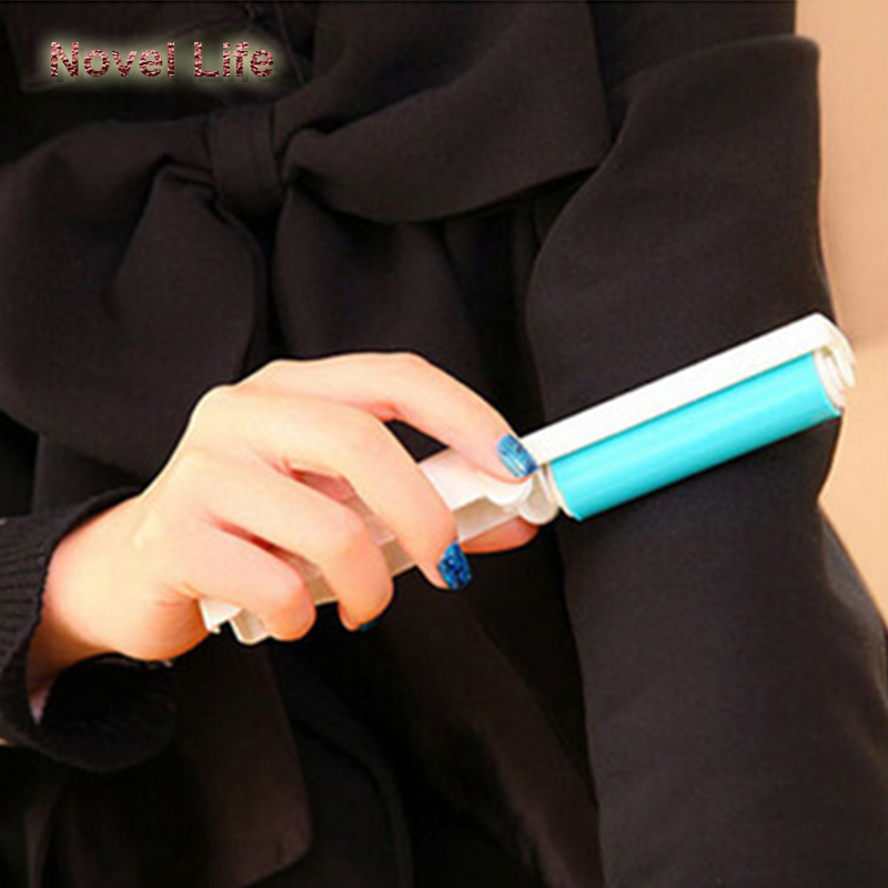 Portable mini folding clothes sticky roller cleaner wool device dust & sweater schtick brush hair removal wool clothing reusable(China (Mainland))