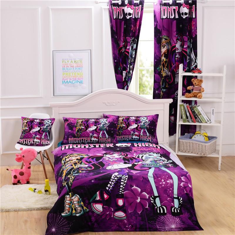 girls baby cartoon spiderman minions sofia kids cotton bedding set