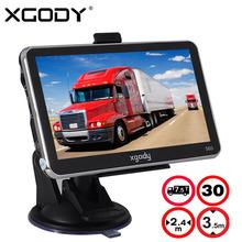 BRAND XGODY 5  Inch 4GB FM Touch Screen Car Truck GPS Navigation SAT NAV Navigator UK USA STOCK FREE MAPS UPDATE