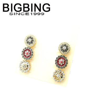 Bigbing мода ювелирные изделия мода аксессуары ювелирные изделия цветок серьги стержня 3 для 1 компл. бесплатная доставка B314