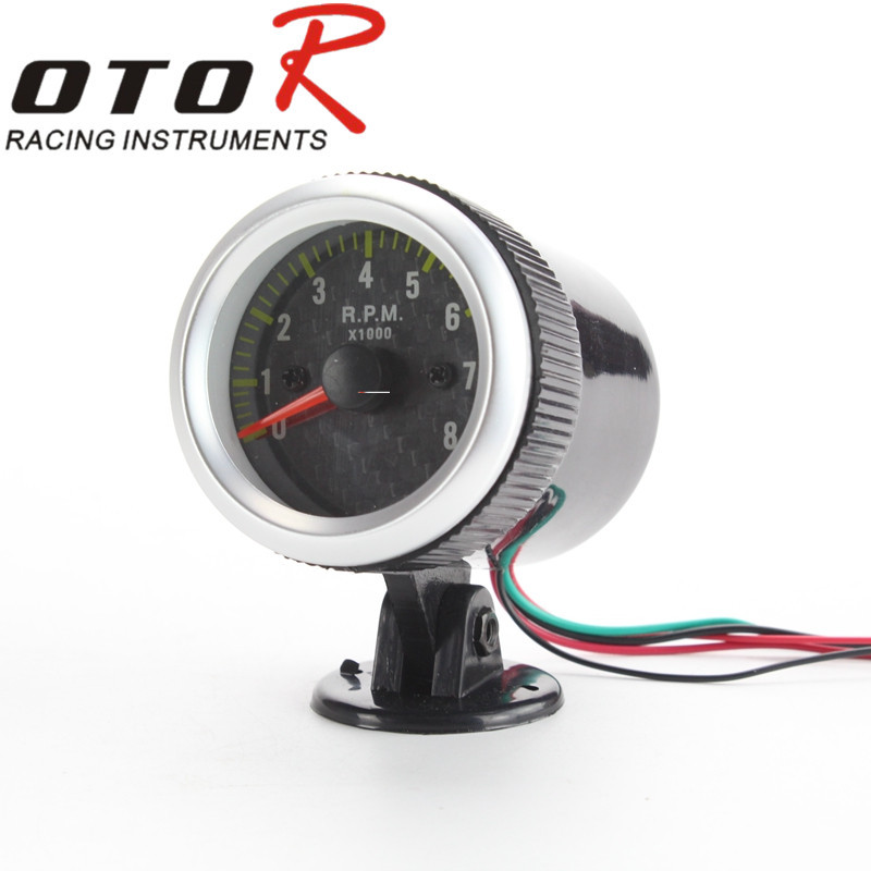 52mm Car Tachometer RPM Gauge Meter POD Mounting Bracket Auto Car Carbon 52mm Rpm Meter LCD Car Tacometro Rpm Gauge White LED(China (Mainland))