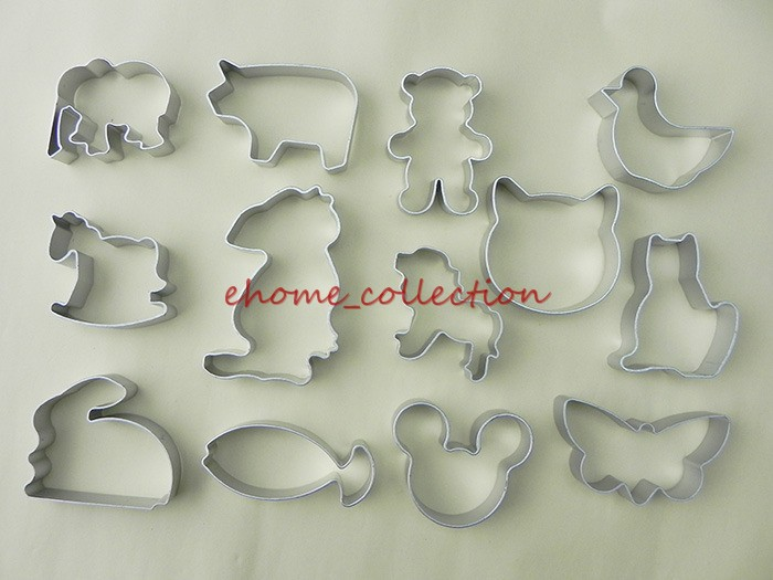 Baking Tool 13pcs/1Set Alloy Material Animals Series Shape Lion Cat Bear Bird Fondant Cookie Cake Mold Sugarcraft Cutter Mould(China (Mainland))