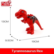 Funlock Duplo Action Figure Dinosaur Blocks T-rex Kids Educational Toys For 2-4 Years